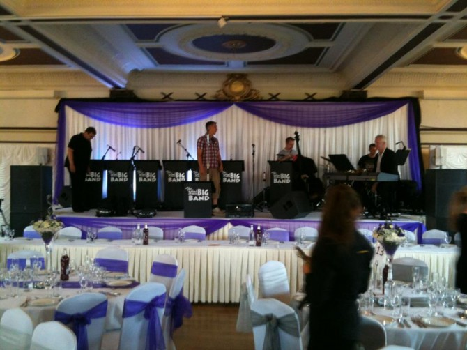 Mini Big Band Setting up at wedding function